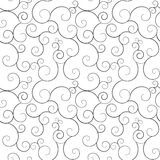 Seamless swirly patterns, vector background. Seamless monochrome swirly patterns, vector background stock illustration