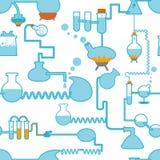 seamless symbol för kemi stock illustrationer