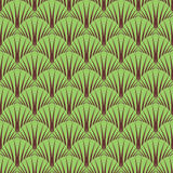 Seamless symbolic forest pattern. Stock Image