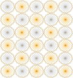 Seamless symmetric background. Circles, triangles, rhombuses, pastel colors, yellow blue Royalty Free Stock Image