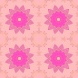 Seamless symmetric blossoms pink violet Royalty Free Stock Image