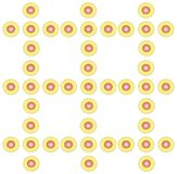 Seamless symmetric pattern on a bright white background Stock Photo