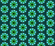 Seamless symmetric pattern floral arrangement, vector illustration. Seamless symmetric pattern floral arrangement. Vector illustration Stock Photography