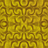 Seamless symmetric pattern with rows of wavy elements Royalty Free Stock Photo