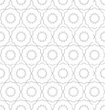 Seamless symmetrical abstract vector background in arabian style made of geometric shapes. Islamic traditional pattern. Black and white colors royalty free stock photography