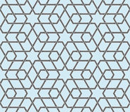 Seamless symmetrical abstract vector background in arabian style made of geometric shapes. Islamic traditional pattern. Royalty Free Stock Images