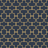 Seamless symmetrical geometric shapes, vector Royalty Free Stock Images