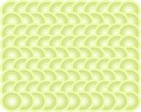 Seamless symmetrical pattern in green, cold pastel colors Stock Image