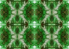 Seamless symmetrical pattern to the center Stock Image