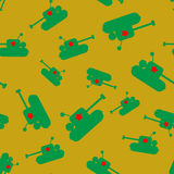 Seamless tank pattern Royalty Free Stock Photos