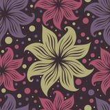 seamless tappning för blom- för grunge modell lilly royaltyfri illustrationer