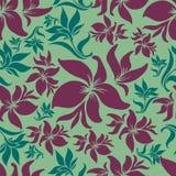 seamless tappning för blom- lilly modell royaltyfri illustrationer