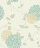 seamless tappning för blom- modell stock illustrationer