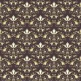 seamless tappningwallpaper för guld Royaltyfri Illustrationer