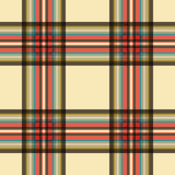 Seamless tartan - beige and colored Royalty Free Stock Photo