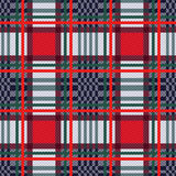 Seamless tartan contrast rectangular texture Stock Images