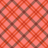 Seamless tartan diagonal pattern in pink and red Stock Photos
