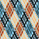 seamless tartan för modell diagonalt blå palett för apelsin Fotografering för Bildbyråer