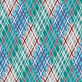 Seamless tartan pattern. Diagonal. Blue palette. Tartan seamless pattern. Diagonal texture. brown palette. Plaid Vector illustration royalty free illustration