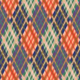 Seamless tartan pattern. Diagonal. fall palette. Tartan seamless pattern. Plaid diagonal texture. Fall palette. Vector illustration Stock Images