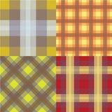 Seamless tartan pattern set Stock Images
