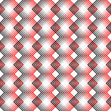 Seamless Tartan Pattern. Vector Black and Red Woven Background Stock Photography