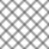 Seamless Tartan Pattern. Vector Black and White Woven Background Stock Images