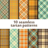 10 seamless tartan patterns Royalty Free Stock Photography
