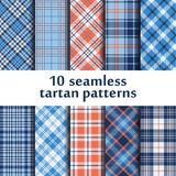 10 seamless tartan patterns. Illustration Vector Illustration