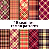 10 seamless tartan patterns Royalty Free Stock Image