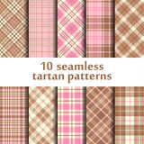 10 seamless tartan patterns. Vector Vector Illustration
