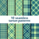 10 seamless tartan patterns Stock Images