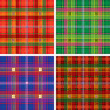 Seamless tartan plaid Stock Photos