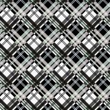 Seamless tartan plaid pattern in black white. royalty free illustration
