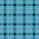Seamless tartan plaid pattern. Checkered fabric texture print in dark grayish blue, navy, pale blue and black eps10 royalty free illustration