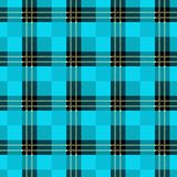 Seamless tartan plaid pattern. Checkered fabric texture print in dark grayish blue, navy, pale blue and white vector illustration