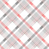 Seamless tartan plaid pattern in stripes of red, black and white. Checkered twill fabric texture. Vector swatch for digital textil. E printing. eps 10 vector illustration