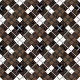 Seamless tartan plaid pattern. Traditional checkered fabric texture in palette of brown, black and white. eps 10 royalty free illustration