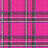 Seamless Tartan Plaid Vector Pattern Background with Fabric Text Stock Image