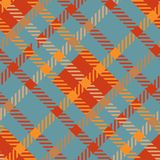 Seamless tartan vector pattern.striped dark orange blue plaid pattern. Seamless tartan vector pattern. striped plaid pattern, dark orange blue Stock Photo