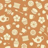 vector seamless tea background Royalty Free Stock Photos