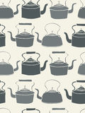Seamless Teapot background Royalty Free Stock Photography