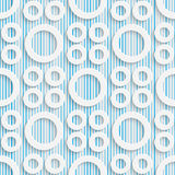 05-0096-03. Seamless Tech Pattern. Abstract Contemporary Background. Modern Tile Wallpaper. 3d Structure Design Royalty Free Illustration