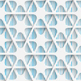 Seamless Tech Pattern. Abstract Contemporary Background. Modern Tile Wallpaper. 3d Structure Design vector illustration