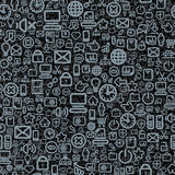 Seamless Technology Pattern Royalty Free Stock Images