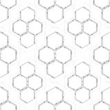 Seamless technology pattern. Hexagons abstract background. Modern stylish texture. Geometric science and technology. Motion design. Scientific vector Royalty Free Stock Image