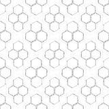 Seamless technology pattern. Hexagons abstract background. Modern stylish texture. Geometric science and technology. Motion design. Scientific vector Royalty Free Stock Photos