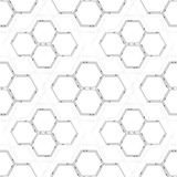 Seamless technology pattern. Hexagons abstract background. Modern stylish texture. Geometric science and technology. Motion design. Scientific vector Royalty Free Stock Photography