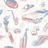 seamless teckensymboler USA för bakgrund Royaltyfri Foto