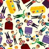 seamless tecknad filmtrollkarlmodell royaltyfri illustrationer